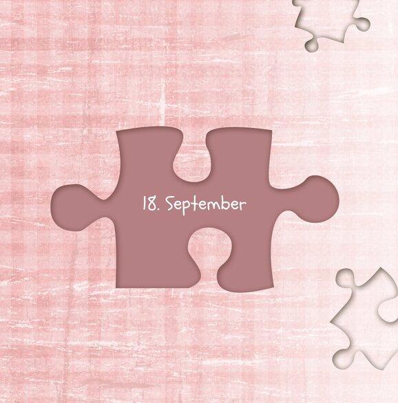 Ansicht 5 - Hochzeit Einladungskarte Puzzle