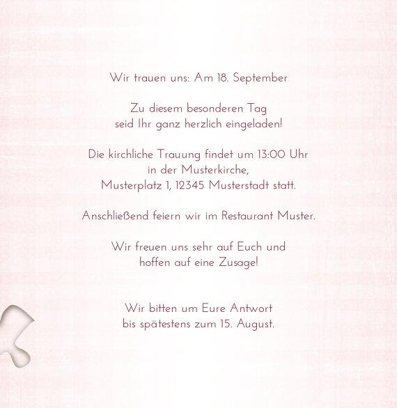 Ansicht 6 - Hochzeit Einladungskarte Puzzle
