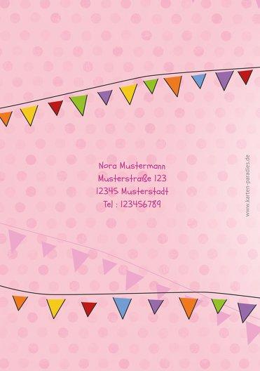 Ansicht 2 - Einladungskarte zum Kindergeburtstag Foto Lampion