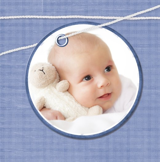 Ansicht 4 - Baby Dankeskarte Faden