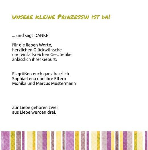 Ansicht 4 - Baby Dankeskarte Krone
