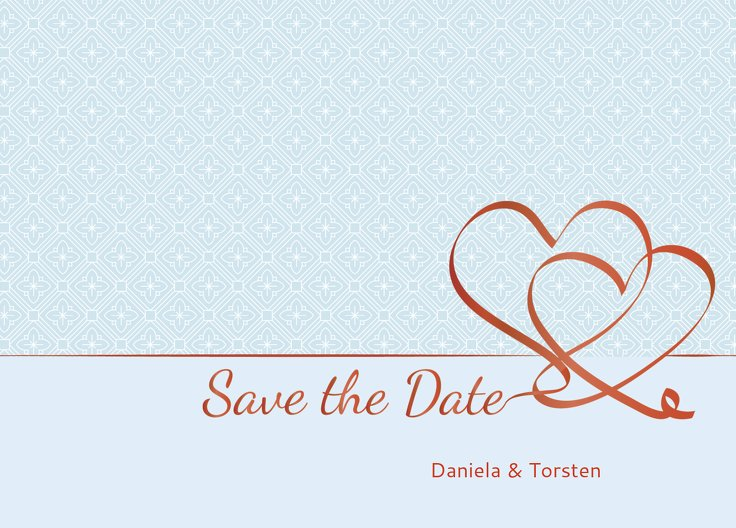 Ansicht 2 - Save-the-Date Turteltäubchen