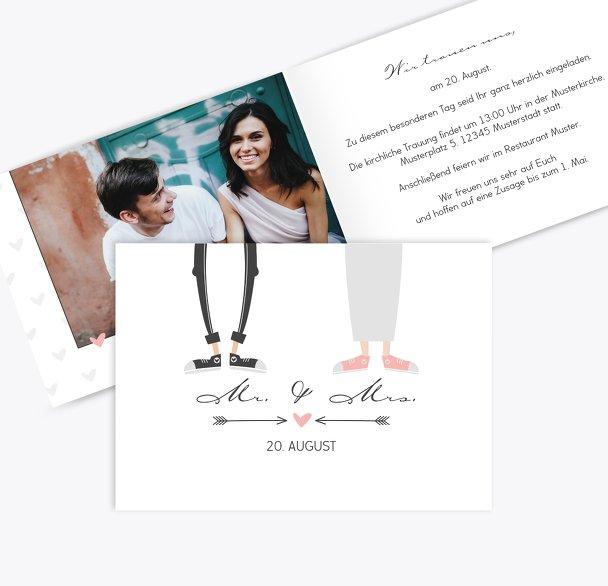 Hochzeit Einladung Pärchen