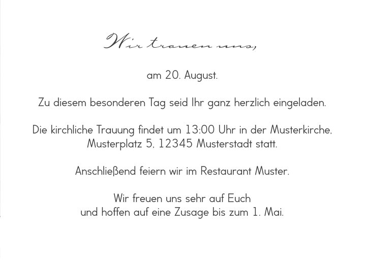 Ansicht 5 - Hochzeit Einladung Pärchen