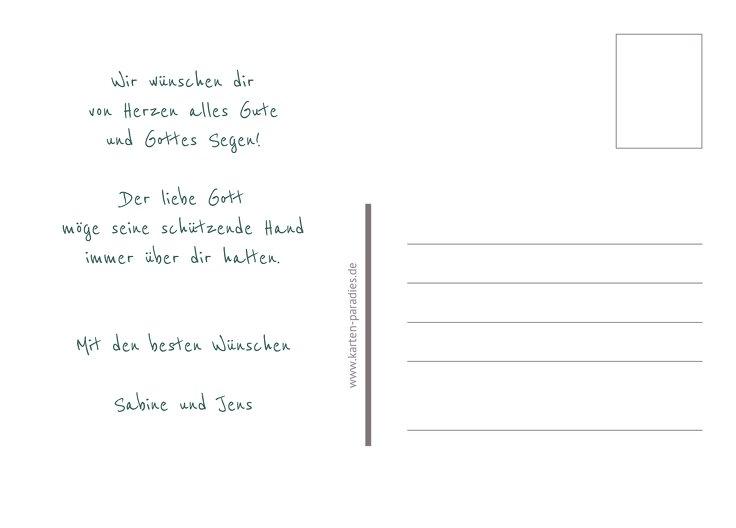Ansicht 3 - Glückwunschkarte zur Konfirmation grunge Engel