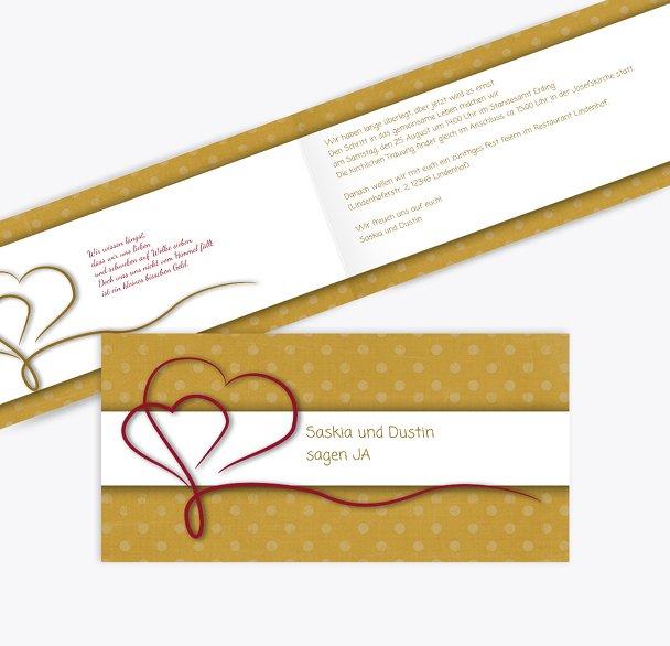 Hochzeit Einladung Gepunktet 2