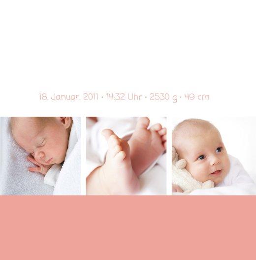 Ansicht 5 - Baby Dankeskarte 3Bilder