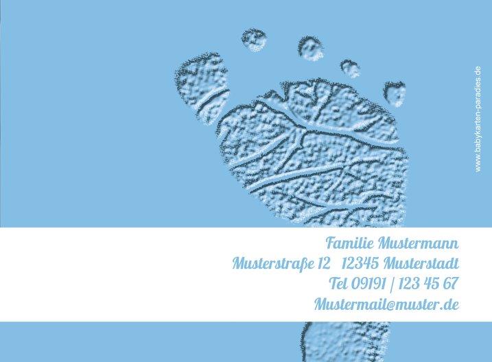 Ansicht 3 - Taufe Dankeskarte Footprints