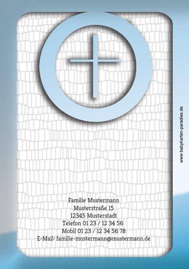 Ansicht 2 - Taufe Dankeskarte Taufsymbolrahmen