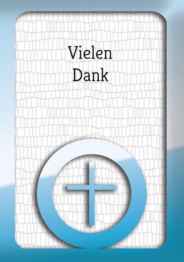 Ansicht 3 - Taufe Dankeskarte Taufsymbolrahmen