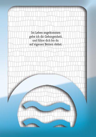 Ansicht 5 - Taufe Dankeskarte Taufsymbolrahmen