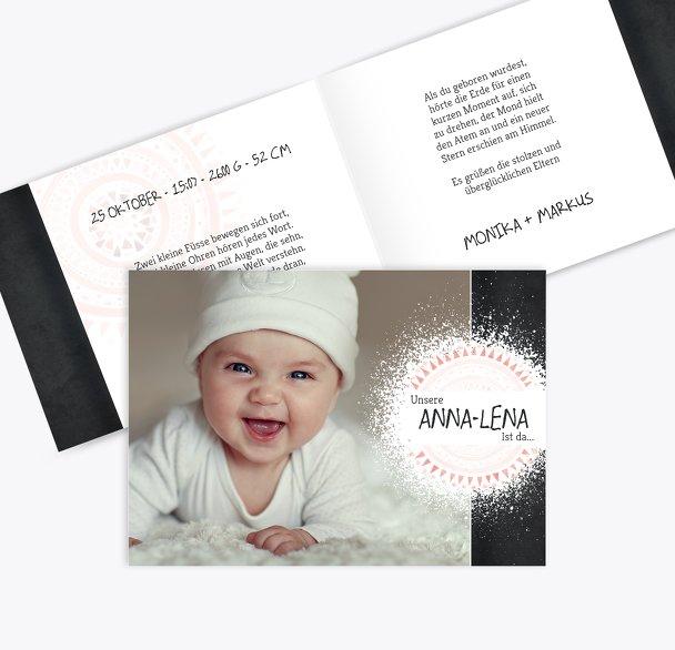 Geburtskarte Mandala
