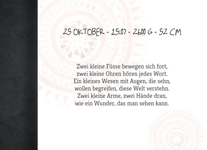 Ansicht 4 - Geburtskarte Mandala