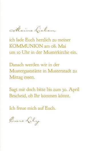 Ansicht 5 - Kommunion Einladung Goldrausch