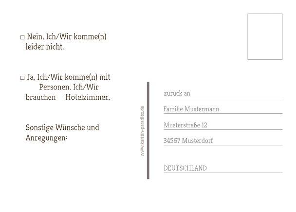 Ansicht 3 - Antwortkarte München
