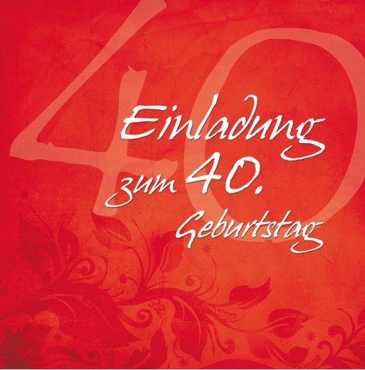 Ansicht 4 - Geburtstagskarte floral verspielt 40 Foto
