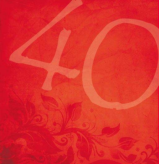 Ansicht 6 - Geburtstagskarte floral verspielt 40 Foto