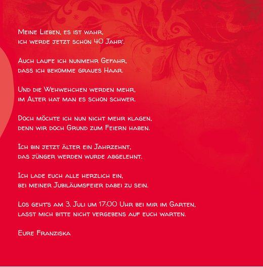 Ansicht 7 - Geburtstagskarte floral verspielt 40 Foto
