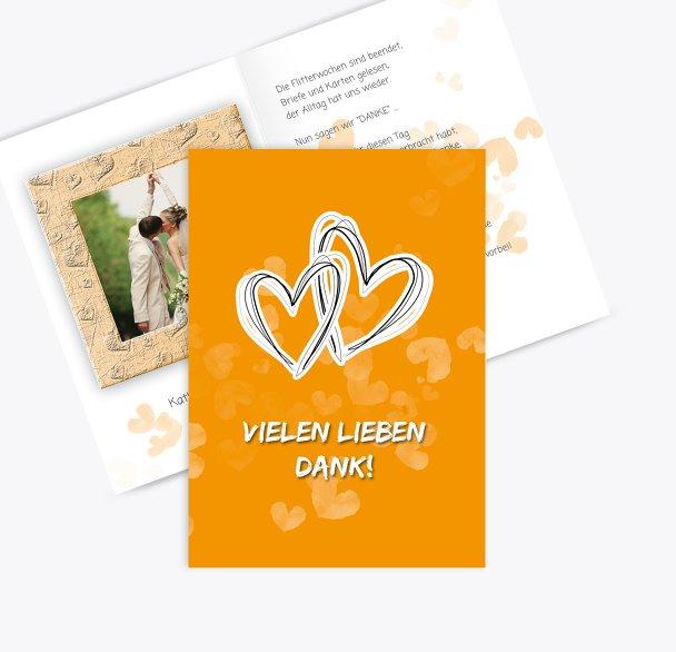 Hochzeit Dankeskarte Liebesglück