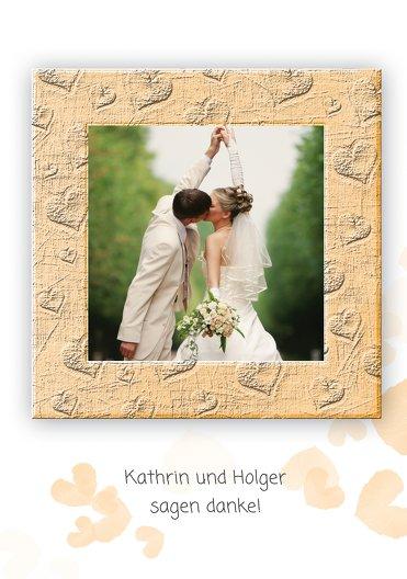 Ansicht 4 - Hochzeit Dankeskarte Liebesglück