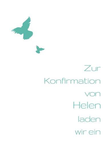 Ansicht 2 - Konfirmationskarte Einladung Taube