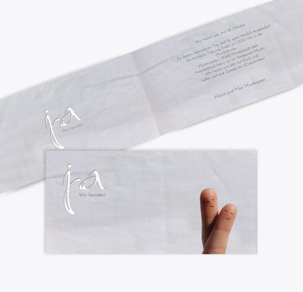 Hochzeit Einladung Fingerpaar 2