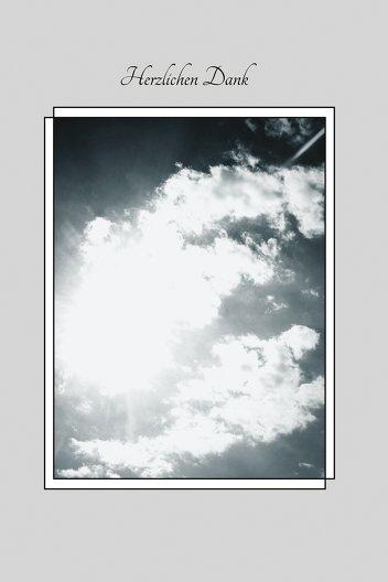 Ansicht 3 - Dankeskarte Wolkenhimmel