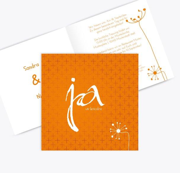 Hochzeit Einladung abstrakte Blumen
