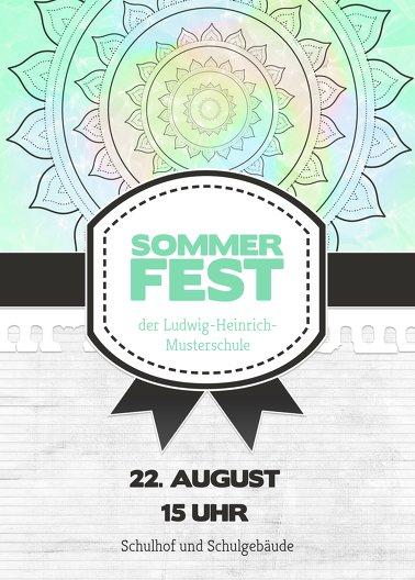 Ansicht 2 - Einladung Sommerfest Psychedelic