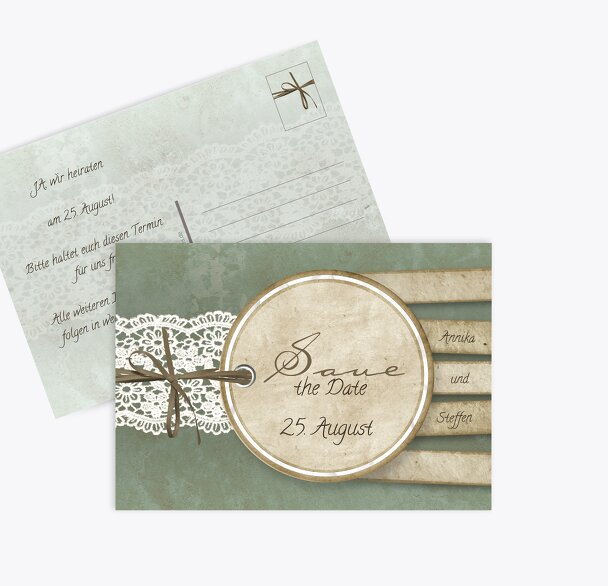Save-the-Date Vintage Lace