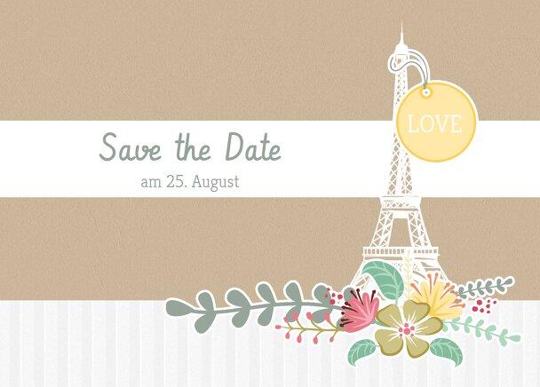 Ansicht 2 - Save-the-Date Paris
