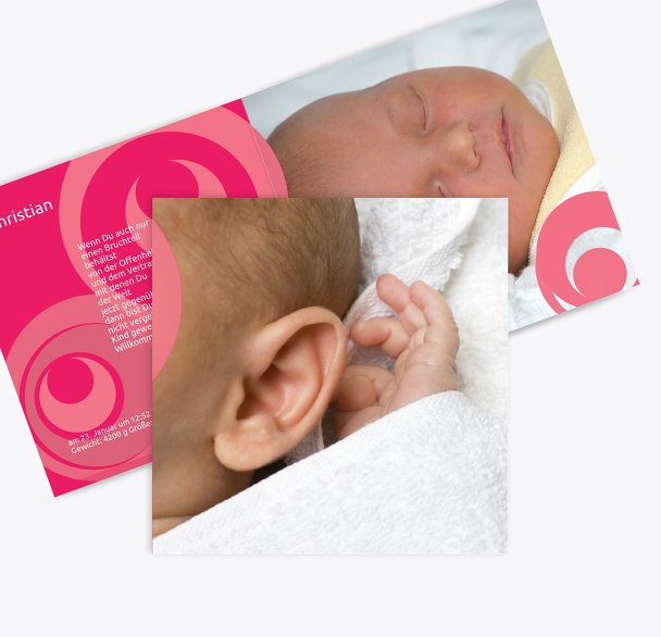 Geburtskarte Kreise
