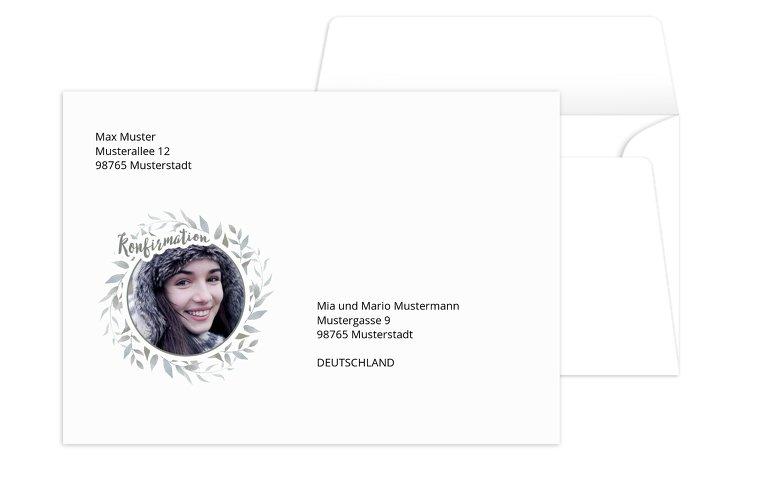 Konfirmation Umschlag Kranz