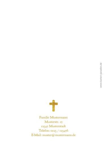 Ansicht 2 - Kommunion Dankeskarte Goldrausch