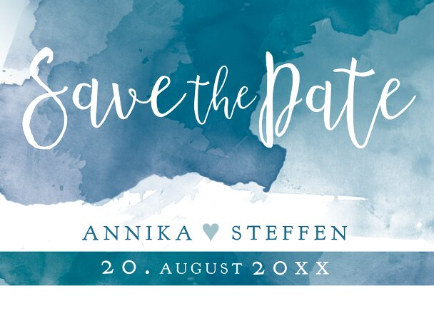 Ansicht 2 - Save-the-Date Aquarell