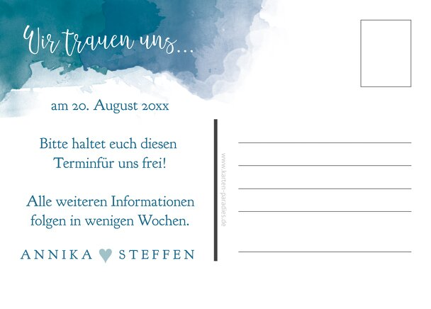 Ansicht 3 - Save-the-Date Aquarell
