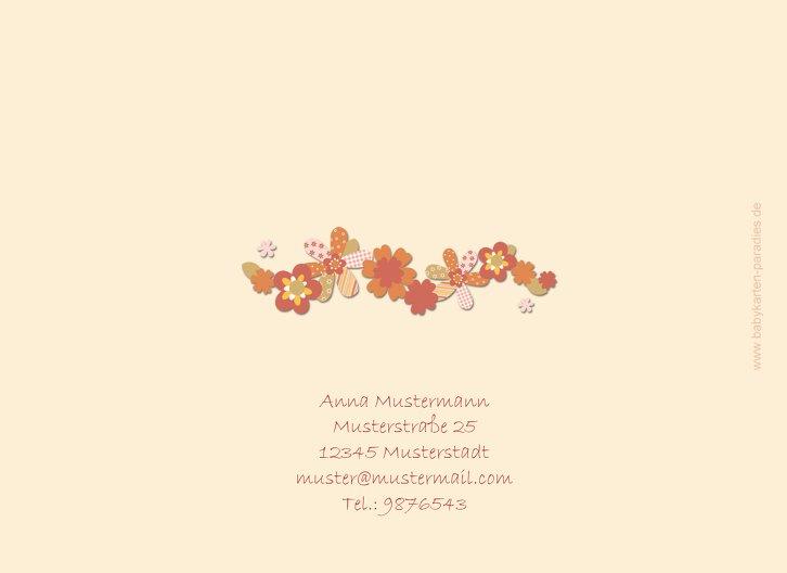 Ansicht 2 - Dankeskarte Blumenband