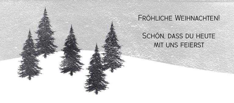 Ansicht 2 - Tischkarte Winterwald