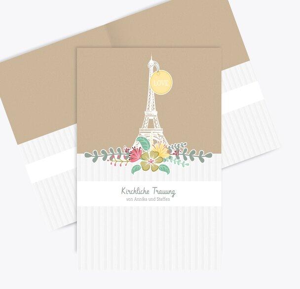 Kirchenheft Umschlag Paris