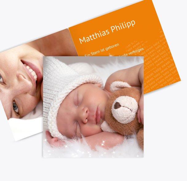 Geburtskarte Star