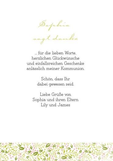 Ansicht 5 - Kommunion Dankeskarte Blumenkreuz