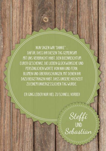 Ansicht 5 - Hochzeit Dankeskarte Vintage Holz