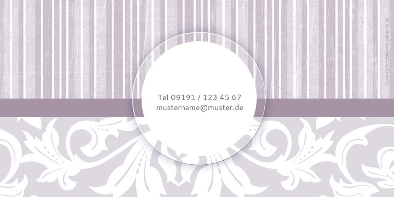 Ansicht 2 - Hochzeit Dankeskarte Streifenzauber 2