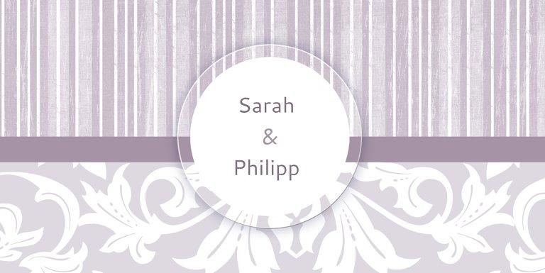 Ansicht 3 - Hochzeit Dankeskarte Streifenzauber 2