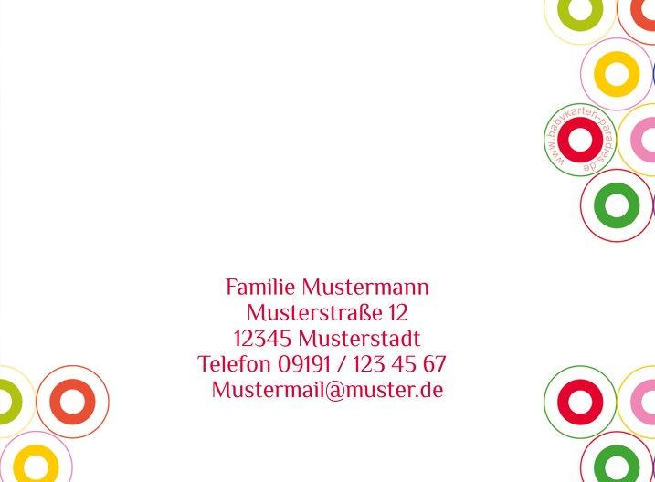 Ansicht 3 - Babykarte Zwillinge bunt