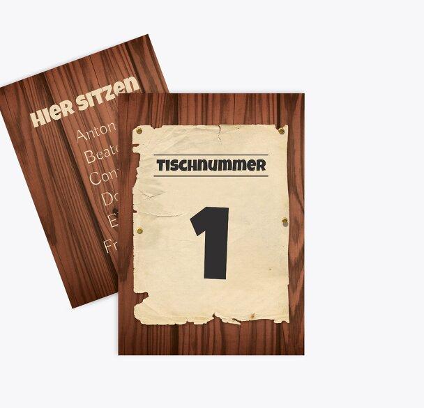 Tischnummer Steckbrief