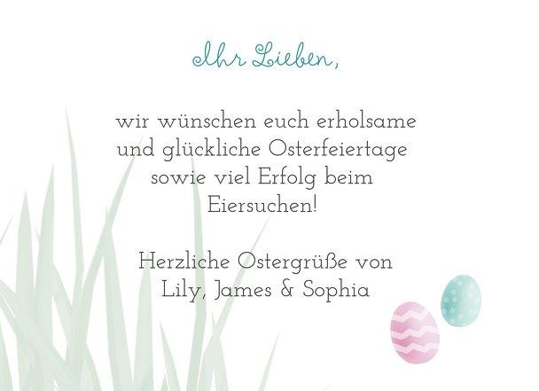 Ansicht 5 - Osterkarte Ostergras