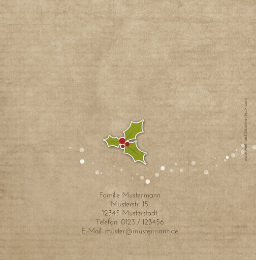 Ansicht 2 - Grußkarte Weihnachtskranz