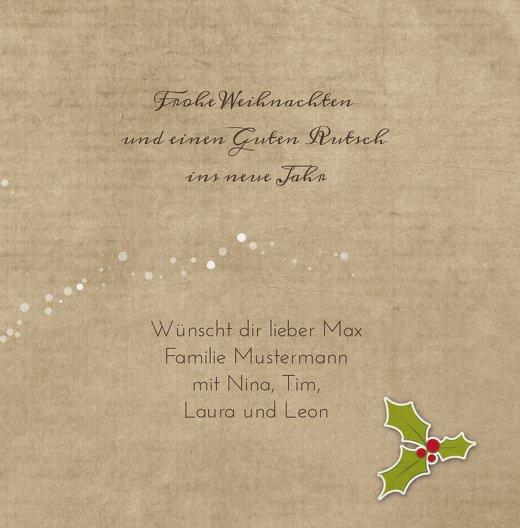 Ansicht 5 - Grußkarte Weihnachtskranz