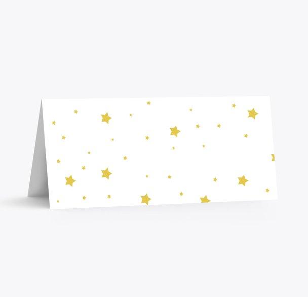 Tischkarte Sterne